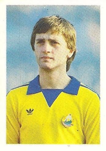 Eurocopa 1984. Gabor (Rumanía) Editorial Fans Colección.
