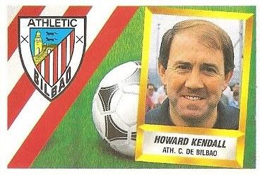 Liga 88-89. Howard Kendall (Ath. Bilbao). Ediciones Este.