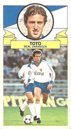 Liga 85-86. Toto (Real Zaragoza). Ediciones Este.