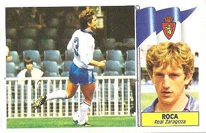 Liga 86-87. Roca (Real Zaragoza). Ediciones Este.