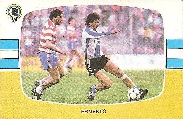 Liga 84-85. Ernesto (Hércules C.F.). Cromos Cano.