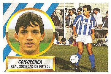 Liga 88-89. Fichaje Nº 5 Goicoechea (Real Sociedad). Ediciones Este.