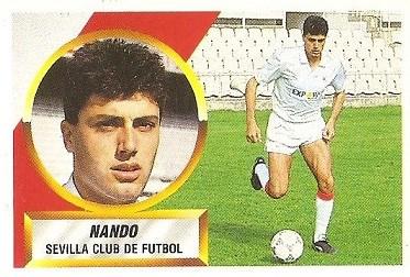 Liga 88-89. Nando (Sevilla C.F.). Ediciones Este.