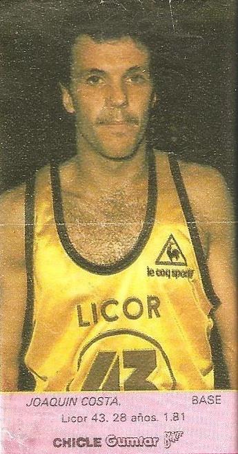 Liga Baloncesto 1985-1986. Costa (Licor 43). Chicle Gumtar.