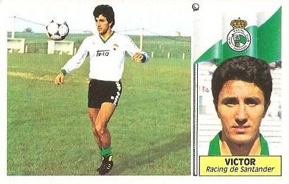Liga 86-87. Victor (Racing de Santander). Ediciones Este.