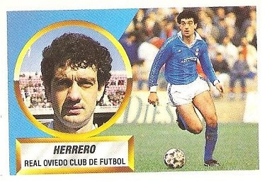 Liga 88-89. Herrero (Real Oviedo). Ediciones Este.