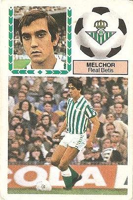 Liga 83-84. Melchor (Real Betis). Ediciones Este.