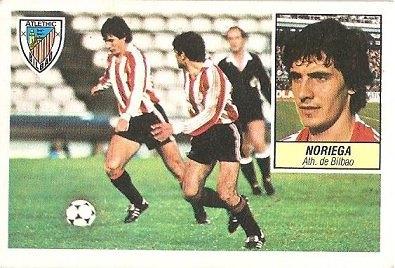 Liga 84-85. Noriega (Ath. Bilbao). Ediciones Este.