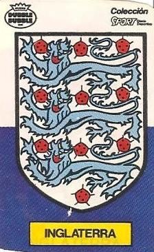 Mundial 1986. Escudo Inglaterra (Inglaterra). Ediciones Dubble Dubble.