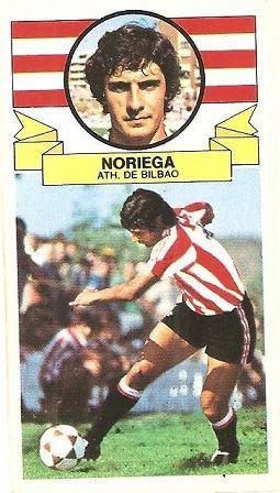 Liga 85-86. Noriega (Ath. Bilbao). Ediciones Este.