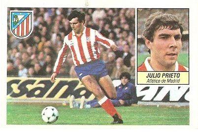 Liga 84-85. Julio Prieto (Atlético de Madrid). Ediciones Este.