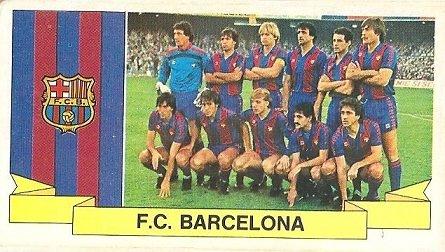 Liga 85-86. Alineación F.C. Barcelona (F.C. Barcelona). Ediciones Este.
