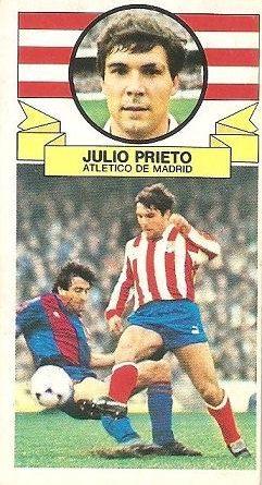 Liga 85-86. Julio Prieto (Atlético de Madrid). Ediciones Este.