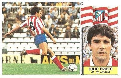 Liga 86-87. Julio Prieto (Atlético de Madrid). Ediciones Este.