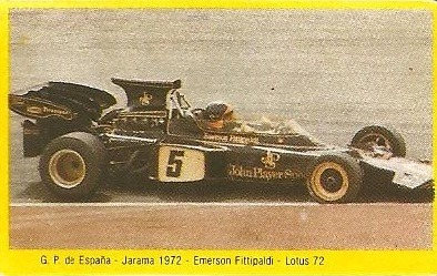 Grand Prix Ford 1982 . Emerson Fittipaldi (Lotus). (Editorial Danone).