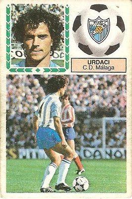 Liga 83-84. Urdaci (C.D. Málaga). Ediciones Este.