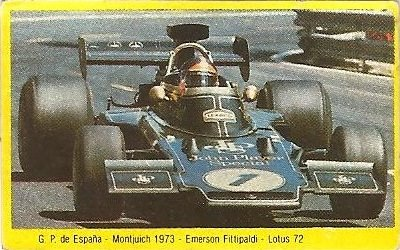 Grand Prix Ford 1982. Emerson Fittipaldi (Lotus). (Editorial Danone).