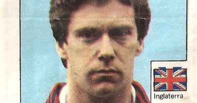 Super Cromos Los Mejores del Mundo (1981). Woodock (Inglaterra). Chicle Fútbol Boomer.