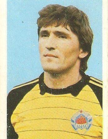 Eurocopa 1984. Pantelic (Yugoslavia). Editorial Fans Colección.