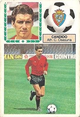 Liga 83-84. Fichaje Nº 17 Cándido (Club Atlético Osasuna). Ediciones Este.