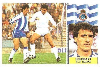 Liga 86-87. Golobart (R.C.D. Español). Ediciones Este.