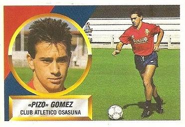 Liga 88-89. Pizo Gómez (Club Atlético Osasuna). Ediciones Este.