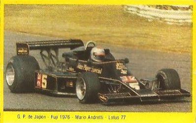 Grand Prix Ford 1982. Mario Andretti (Lotus). (Editorial Danone).