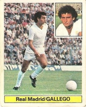 Liga 81-82. Gallego (Real Madrid). Ediciones Este.