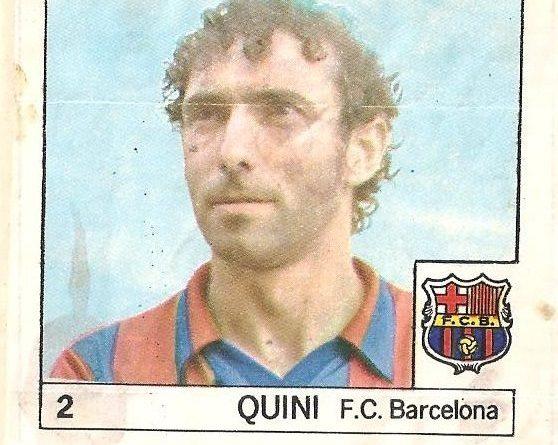 Super Cromos Los Mejores del Mundo (1981). Quini (F.C. Barcelona). Chicle Fútbol Boomer.