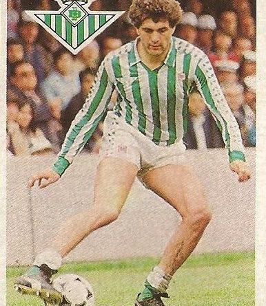 Diego Armando Maradona. Sus driblings. Sus goles. Liga 84-85. Gordillo (Real Betis). Cromo Esport.