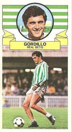 Liga 85-86. Gordillo (Real Betis). Ediciones Este.