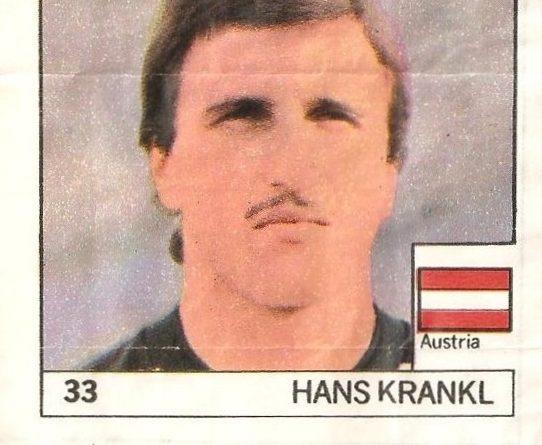 Super Cromos Los Mejores del Mundo (1981). Krankl (Austria). Chicle Fútbol Boomer.