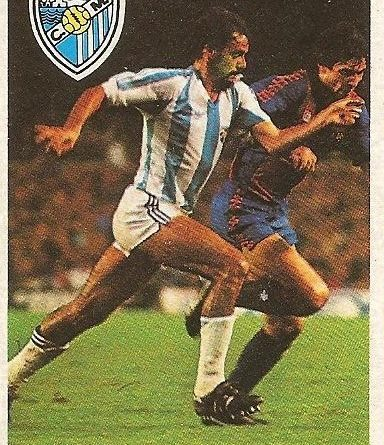 Diego Armando Maradona. Sus driblings. Sus goles. Liga 84-85. Brescia (C.D. Málaga). Cromo Esport.
