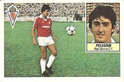 Liga 84-85. Pelegrín (Real Murcia). Ediciones Este.