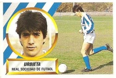 Liga 88-89. Urbieta (Real Sociedad). Ediciones Este.
