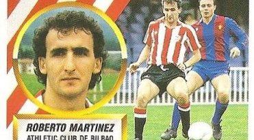 Liga 88-89. Roberto Martínez (Ath. Bilbao). Ediciones Este.