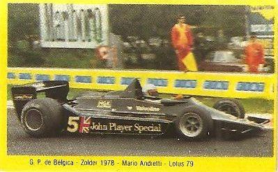 Grand Prix Ford 1982. Mario Andretti (Lotus). (Editorial Danone)...