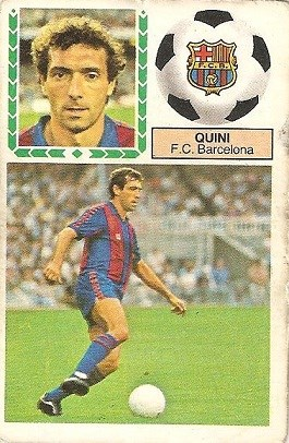 Liga 83-84. Quini (F.C. Barcelona). Ediciones Este.