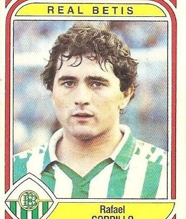 Liga 83-84. Gordillo (Real Betis). Ediciones Panini.