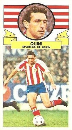 Liga 85-86. Quini (Real Sporting de Gijón). Ediciones Este.