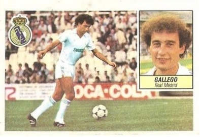 Liga 84-85. Gallego (Real Madrid). Ediciones Este.