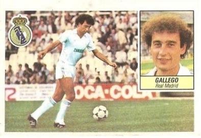 Liga 84-85. Gallego (Real Madrid). Ediciones Este.
