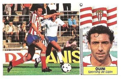 Liga 86-87. Quini (Real Sporting de Gijón). Ediciones Este.