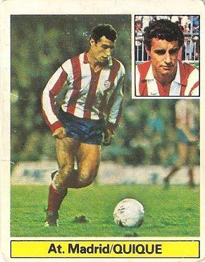 Liga 81-82. Quique (Atlético de Madrid). Ediciones Este.