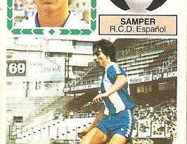 Liga 83-84. Fichaje Nº 26 Samper (R. C. D. Español). Ediciones Este.