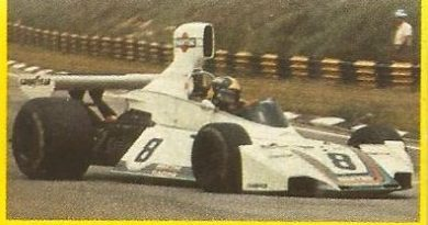 Grand Prix Ford 1982. Carlos Pace (Brabham). (Editorial Danone).