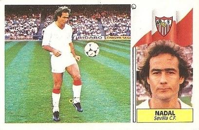 Liga 86-87. Nadal (Sevilla C.F.). Ediciones Este.