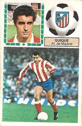 Liga 83-84. Quique (Atlético de Madrid). Ediciones Este.