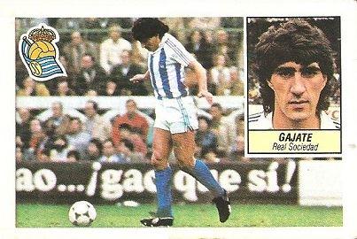 Liga 84-85. Gajate (Real Sociedad). Ediciones Este.