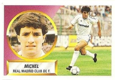 Liga 88-89. Michel (Real Madrid). Ediciones Este.